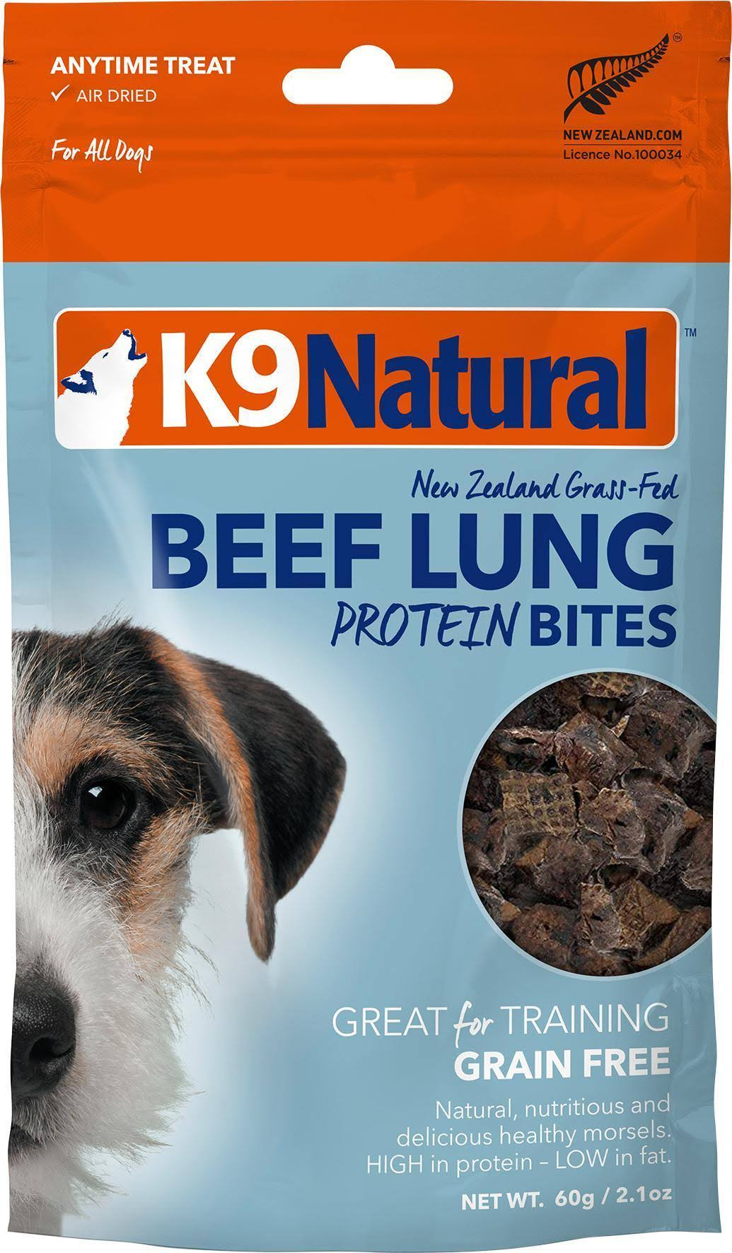 K9 Natural Beef Lung Protein Bites - 60g
