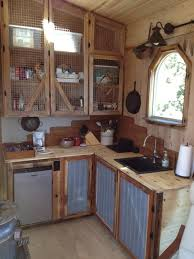 Kitchens Simple Rustic Small Kitchen A One Of Kind Tiny House Packed With