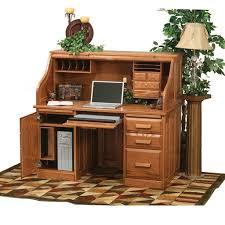 Ethan Allen Dark Pine Roll Top Desk by Furniture Classic Rolltop Computer Desk For Antique Study Desk