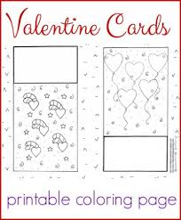 Darling Valentine Cards Coloring Page