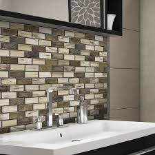 shop elida ceramica melted earth beige glass mosaic subway indoor