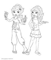 Mia And Olivia Coloring Page