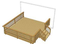 24 x 12 deck w wide stairs at menards dream home pinterest