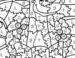 Color By Numbers Coloring Pages Easy Number Free Printable