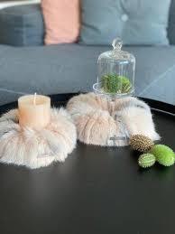 drosselbart design echtfell kranz kleiner kranz 20 cm durchmesser kerzenmanchette tischdekoration nachhaltig light geschenk