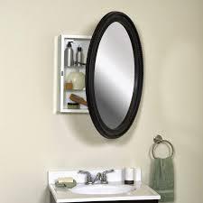 Glacier Bay Bathroom Wall Cabinets by Bathroom Natural Wood Frame Oval Medicine Cabinet For Bathroom