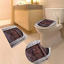 anhuthree rustikal badezimmer wc vorleger set alter geknackt