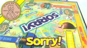 Spongebob Squarepants Sorry Board Game 89862 Parker Brothers 2008 Hasbro Toys