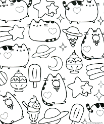 Kawaii Pusheen Coloring Pages Printable