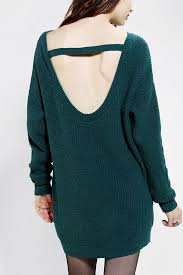 kimchi blue kimchi blue scoopback sweater dress in green lyst