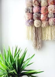 Homemade Wall Hangings Giant Pom Hanging Do It Yourself Art For Nursery