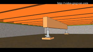 Floor Joist Bracing Support by How To Use Beam And Jack To Raise Multiple Floor Joist