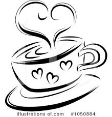 Royalty Free RF Coffee Clipart Illustration by MilsiArt