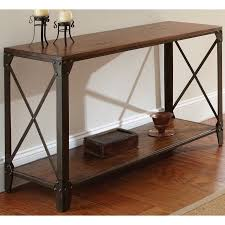 greyson living windham solid wood and iron rustic sofa table by