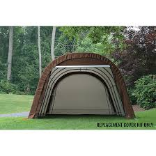 Shelterlogic Run In Sheds by Replacement Cover Kit For Garage In A Box Rnd 12 X 20 X 8 Std Brown