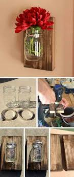 Jars Diy Jar Crafts And Designs For Ative Wall Piece Made Of Reclaimed Barn Wood Used