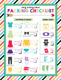 Things To Pack For Kids Travel Clipart