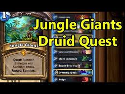 Hearthstone Decks Druid Combo by Hearthstone Fun Decks Jungle Giants Druid Quest Youtube