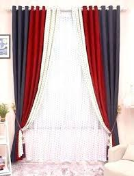 Red Curtains For Living Room Cl High Grade Solid Chenille Stitching Bedroom