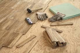 Luan Plywood Underlayment Subfloor Over Concrete