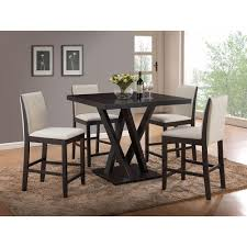 Everdon 5-Piece Dark Brown Bar Table Set | Products | Pub Table Sets ...
