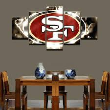 Wall Arts San Francisco 49ers Nfl Football 5 Panel Canvas Art Home Decor
