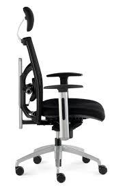 siège de bureau ergonomique confortable en tissu noir nantes