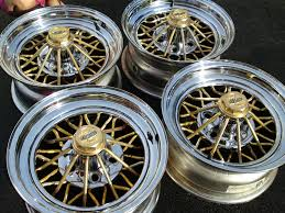 Cragar Rims Pre owned 30 Spoke Gold & Chrome Star Wire Wheels