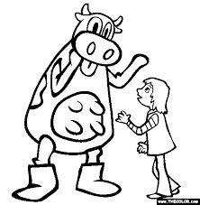 Character Greeting Coloring Page Corn Dogs
