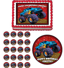 Mudslinger Monster Truck Edible Cake Topper Cupcake Decoration ... 80 Off Sale Monster Jam Straw Tags Instant Download Printable Amazoncom 36 Pack Toy Trucks Pull Back And Push Friction Jam Sticker Sheets 4 Birthdayexpresscom 3d Dinner Plates 25 Images Of Template For Cupcake Toppers Monsters Infovianet Personalised Blaze And The Monster Machines 75 6 X 2 Round Truck Edible Cake Topper Frosting 14 Sheet Pieces Birthday Party Criolla Brithday Wedding Printables Inofations For Your Design Pin The Tire On Party Game Instant