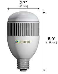what are the comparable standard light bulb sizes for ilumi