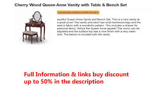 Cherry Wood Queen Anne Vanity With Table & Bench Set Beautiful Folding Ding Chair Chairs Style Upholstered Design Queen Anne Ashley Age Bronze Sophie Glenn Civil War Era Victorian Campaign And 50 Similar Items Stakmore Chippendale Cherry Frame Blush Fabric Fniture Britannica True Mission Set Of 2 How To Choose For Your Table Shaker Ladderback Finish Fruitwood Wood Indoorsunco Resume Format Download Pdf Az Terminology Know When Buying At Auction
