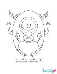 Halloween Monster Free Printable Coloring Sheet