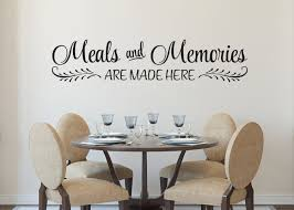 Meals And Memories Are Made Here Vinyl Wall Decal Kitchen