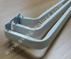 kirsch triple curtain rod swags galore drapery hardware
