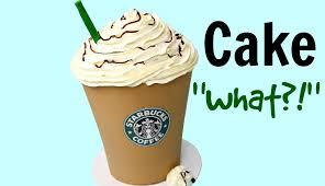 Giant Starbucks Mocha Frappuccino Cake
