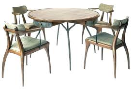 Round Card Table And Chairs