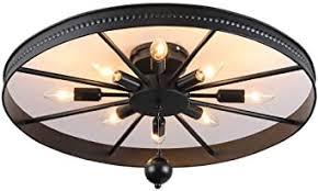 retro rad deckenle runde vintage schlafzimmerle 8 flammig deckenleuchte industriele antik esszimmerle ring design wohnzimmer le