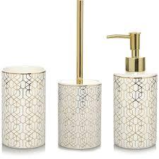Crackle Glass Bathroom Set by Gold Bathroom Accessories Uk Brightpulse Us