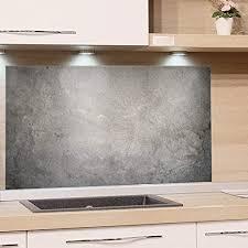 grazdesign spritzschutz glas bild motiv granit grau marmor