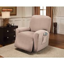 Stretch Suede Wing Chair Recliner Slipcover by Mainstays Pixel Recliner Slipcover Walmart Com