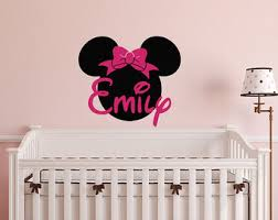 Minnie Mouse Bedroom Decor by Minnie Mouse Decals Etsy