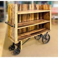 Shelving Unit Trolley Wood DisplayDisplay IdeasRetail