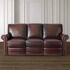 Absolutely Smart Leather Sofa Recliner Imposing Ideas Hamilton Old World Style Ottoman Brown Bassett Furniture