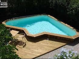 piscine semi enterr e installation cr ation de en bois sur