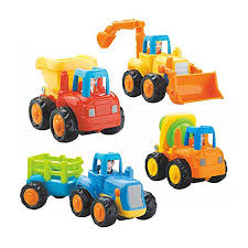 100 Trucks Cartoon Amazoncom IQ Toys 4 Pack FrictionPowered Vehicles For