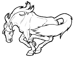 Horse Coloring Pages Jpg Page In General Style