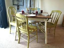 Retro Dining Set Table And Chairs White Round