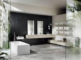 elegante einrichtung bad schwarze fliesen möbel italienisch