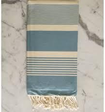 drap canapé fouta jeté canapé tissage plat bleu ciel 2m x 3m